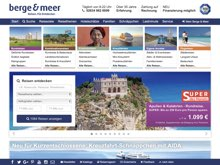 Screenshot Berge & Meer Website