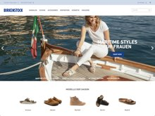 Screenshot Birkenstock Website