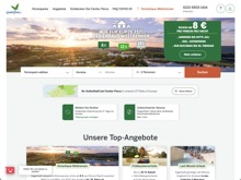 Screenshot Center Parcs Website