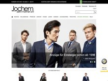 Screenshot Herrenmode Jochem Website