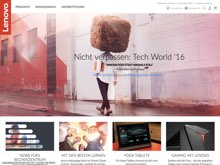 Screenshot Lenovo Website