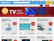 Screenshot Medion Website