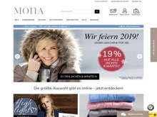 Screenshot Mona Website