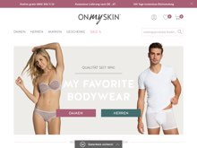 Screenshot onmyskin Website