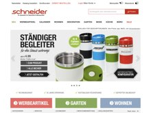 Screenshot Schneider.de Website
