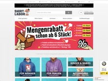 Screenshot Shirtlabor Website