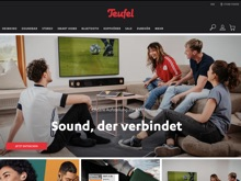 Screenshot Teufel Website