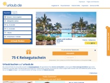 Screenshot Urlaub.de Website