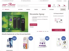 Screenshot zur Rose Website